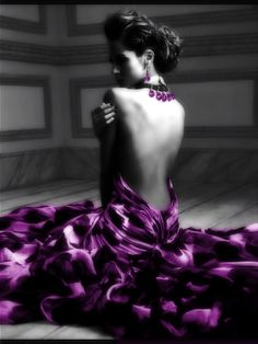 ✩⋆ Purple Color Splash ⋆✩ Purple and Grey ⋆✩ Purple Love, Purple Lilac, All Things Purple, Shades Of Purple, Purple Dress, Purple Stuff, Purple Baby, Black N White, Black And White Pictures