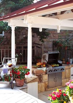 Always wanted an outdoor kitchen. I grill all summer & into the fall.