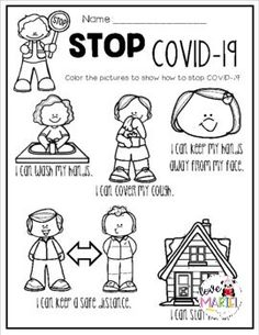 These free coloring, reading, and writing worksheets are a great way to teach students how to help stop Coronavirus Perfect for pre-k, kindergarten, and first grade students! Preschool Learning, Kindergarten Classroom, Preschool Activities, Kindergarten Graduation, Classroom Rules, Kindergarten Worksheets, Classroom Ideas, Beginning Of The School Year, New School Year