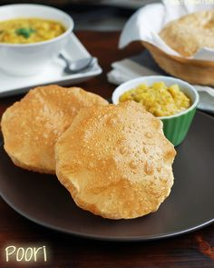 Poori recipe, how to make south Indian Puri, Puri Recipe (Poori Recipe) - The classic South Indian breakfast, perfect for weekends and special occasions. Learn how to make perfect Puffy Poori. Puri Recipes, Indian Food Recipes, Delicious Breakfast Recipes, Yummy Food, Yummy Yummy, Nepali Food, Indian Breakfast, Desi Food, India Food