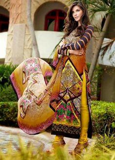 Jinaam Summer Blooms 2014 | Summer time Dresses by Jinaam - FASHIONPAB
