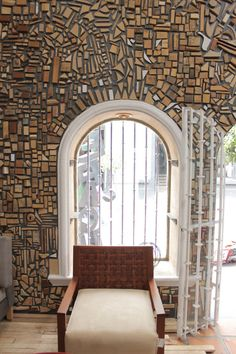 Reclaimed Wood Used to Design Gallery Interior Photo
