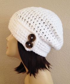 chunky slouchbeaniehatcapdecorated slouchslouch with by Jeniebugs