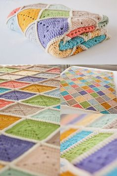 Beautiful #crochet baby blanket in #dropsdesign Paris made by Dutch blogger Studio Ann.