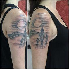 Mother and Children Tattoo | Venice Tattoo Art Designs