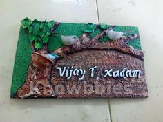 Clayart Nameplate Designing Irresistible Tips Clay Art NameplateBack To 47 Clay Art NameplateHot Examples Clay Art Nameplate 2019 - large kb image, Electrifying. Lotus Painting, Mural Painting, Mural Art, Art Paintings, Murals, Door Name Plates, Name Plates For Home, Clay Wall Art, Clay Art