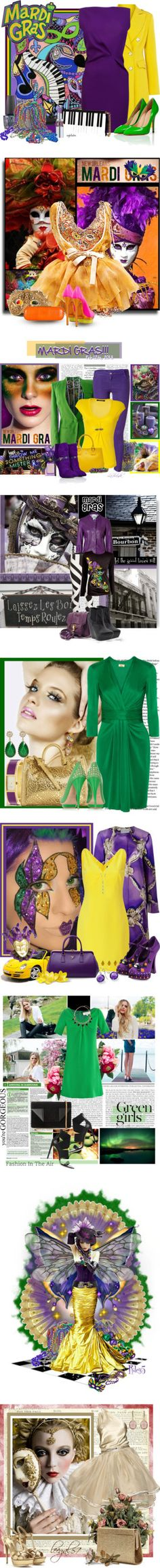 """""""Happy Mardi Gras!"""" by polyvore-editorial on Polyvore  I love the colors!"""