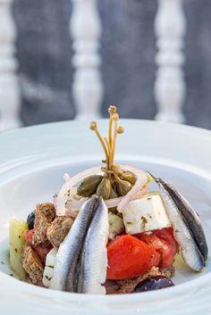 Greek Salad with Fish Fillets