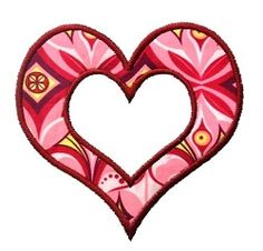 Poofy Heart Applique - 3 Sizes! | Valentine Applique Machine Embroidery | Machine Embroidery Designs | SWAKembroidery.com