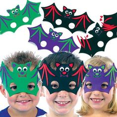 Halloween Foam Bat Mask Kits - (Pack of 6) by Baker Ross, http://www.amazon.co.uk/dp/B005OK09DO/ref=cm_sw_r_pi_dp_aQkmrb147B0VA