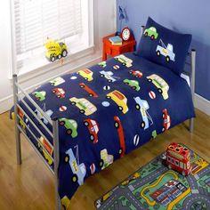 Transport Toddler Bedding Set - Colourful Cars and Lorries Big Boy Bedrooms, Boys Bedroom Decor, Bedroom Themes, Bedroom Ideas, Car Bedroom, Toddler Duvet, Boys Bedding Sets, Duvet Bedding, Boy Room