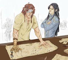 Fadesintothewest: Utúlie'n aurë! Aiya Eldalie ar A — shackal-jackal:  commision of Fingon and Maedhros