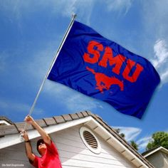 SMU Southern Methodist Mustangs University Large College Flag by College Flags and Banners Co.. $29.95. Our SMU Flag measures 3x5 feet in size, has quadruple-stitched fly ends, is made of durable polyester, and has two metal grommets for attaching to your flagpole. The screen printed SMU logos are Officially Licensed and Approved by Southern Methodist University and are viewable from both sides with the opposite side being a reverse image.. Save 25%!