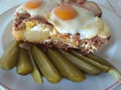 Darált húsos rakott burgonya ... Fullosan! - Bidista.com - A TippLista! Balerina, Sausage, Toast, Eggs, Beef, Cooking, Breakfast, Gastronomia, Food