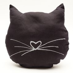 {cat cushion} by loligo. @Katherinefaick this would look Super cute on you red couch!!