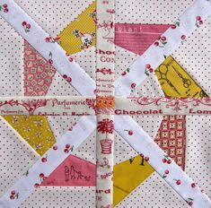 *free* Crown of Thorns quilt block pattern by Charise Creates
