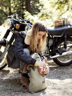 Lifestyle photography featuring motorcycling women...
