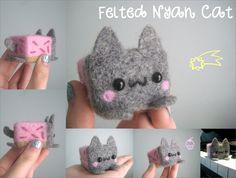 Felted Nyan Cat. $20,00, via Etsy.