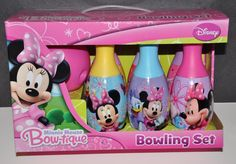 Disney Minnie Mouse Bowling Set Girls Gifts Birthday NIP Daisy Duck Bow Tique   eBay