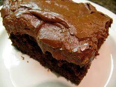 Chocolate cake that can be low sodium if you use no sodium baking powder and baking soda.
