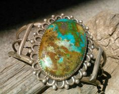 Vintage Navajo Old Kingman Turquoise Bracelet