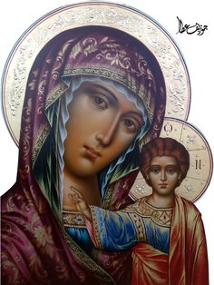 Mother Mary and Jesus icon Religious Pictures, Religious Icons, Religious Art, Blessed Mother Mary, Blessed Virgin Mary, Divine Mother, Madonna Art, Madonna And Child, Byzantine Icons