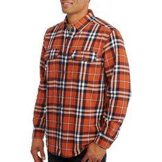 Faded Glory Big Men's Long Sleeve 2 Pocket Flannel Shirt - Walmart.com
