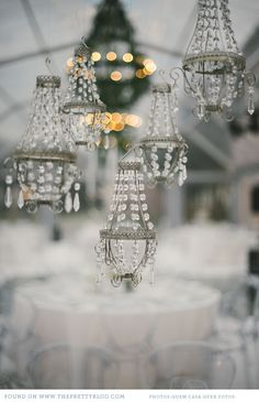 winter wedding white and grey 035 Pedro & Anas Wintery Wedding Miniature Furniture, Dollhouse Furniture, Winter Wedding Colors, Hanging Crystals, Winter Wonderland Wedding, Chandelier Lighting, Crystal Chandeliers, Chandelier Wedding, Diy Dollhouse