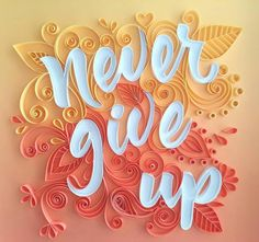 Items similar to Ispirational quote quilling art on Etsy Arte Quilling, Quilling Letters, Paper Quilling Flowers, Paper Quilling Cards, Quilling Work, Paper Quilling Patterns, Quilled Paper Art, Quilling Paper Craft, Diy Paper