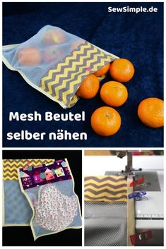 Sew mesh pouches yourself: a clever idea- Mesh Beutel selber nähen: Eine clevere Idee Reusable bags made of airy mesh fabric are cool and eco-friendly. Sure, we have a great guide for you on how to sew the mesh bags yourself – you& see, it& very easy! Easy Sewing Projects, Sewing Projects For Beginners, Knitting For Beginners, Sewing Hacks, Sewing Tutorials, Sewing Tips, Baby Knitting Patterns, Sewing Patterns Free, Free Sewing