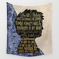 Harry Potter wall tapestry art on Society6 - DESCRIPTION Available in three distinct sizes, our Wall Tapestries are made of 100% lightweight polyester with hand-sewn finished edges. Featuring vivid colors and crisp lines, these highly unique and versatile tapestries are durable enough for both indoor and outdoor use. Machine washable for outdoor enthusiasts.  ABOUT THE ART  book, bookworm, booknerd, bookish, read, reader, books, book quote, quote