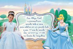 Convite digital personalizado Cinderela com foto 024