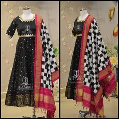 Here comes the Stunning Black Beauty from Our Ikkat Collection !!!TS-DS- 393AvailableFor orders/querieswhatu2019s app us on8341382382 orCall us @8790382382Mail us tejasarees@yahoo.com LikeNeverBefore Tejasarees Newdesigns icreate dresses tejaethnicstudio hyd ikkat duppatas pattu traditional tejupavuluriStay Amazed!!Team Teja!! 10 January 2017