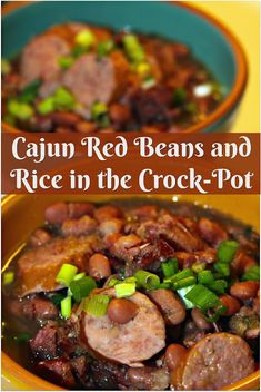 Cajun Red Beans and Rice in the Crock-Pot Red Beans and Rice is the ultimate Cajun comfort food. This Crock-pot version makes this recipe easy to make and perfect for feeding your hungry family on cold winter nights! Cajun Recipes, Bean Recipes, Rice Recipes, Dinner Recipes, Cajun Chili Recipe, Haitian Recipes, Cajun Food, Louisiana Recipes, Donut Recipes