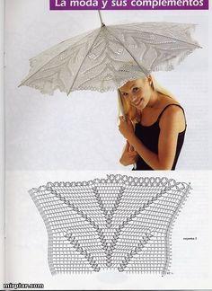 Openwork crochet umbrellas