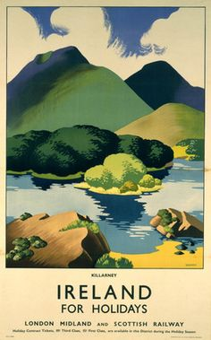 'Ireland for Holidays - Killarney', LMS poster, c 1930s. by Sparrow, Clodagh at Science and Society Picture Library