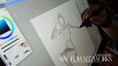 Timelapse Drawing : Uchiha Sarada