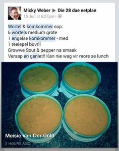 Wortel & komkommer sop
