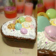 Yummy Box Macaron Cookies, Macarons, Fimo Clay, Chocolate Box, Girly, Sweets, Cake, Desserts, Handmade
