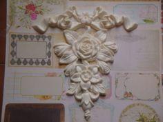 Cottage-Chic-Resin-Bow-Floral-Drop-Furniture-Applique-Decor-Shabby-Vintage