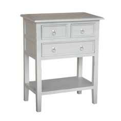Brimming with timeless appeal, this paneled side table offers 3 drawers and a bottom shelf for your storage needs.   Product: Side t...