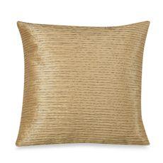 """Julia Pleat 20"""" Toss Pillow - Gold - Bed Bath & Beyond"""
