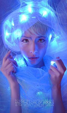 """The Jellyfishby ~AngelaBermudez Photography / People & Portraits / Expressive ©2013 ~AngelaBermudez Self Portarit Make up inspired on a jellyfish :) For """"I am two with nature"""" Series For more of this -> [link]"""