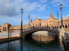 Ponts de la Plaza de España (Séville / Andalousie / Espagne)