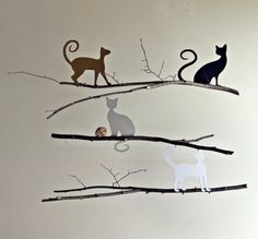 Cat Mobile  home decor gifts hanging by EnchantedPendulosity