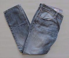 """GAP 1969 Boyfriend Jeans 27 4 Light Distressed Cotton Denim Relaxed straight 28"""" #GAP #BoyfriendStraightLeg"""