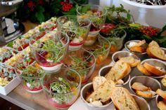 Bakin' Bit catered baby shower mini salads