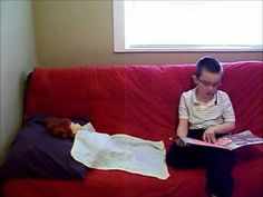 video - This is a Demonstration of a behavioral therapy used to get an autistic boy to sleep in his bed.