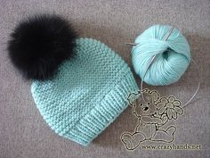 Ocean Blue Knitted Baby Hat · Crazy Hands Knitting Ocean blue knitted baby hat pattern Knitting , lace processing is the single most beautiful hobbies that women can't giv. Baby Knitting Patterns, Baby Hat Patterns, Baby Hats Knitting, Hand Knitting, Knitted Baby Beanies, Charity Knitting, Knit Hats, Baby Infinity Scarves, Baby Hat And Mittens