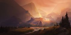 ArtStation - The Village, Kristina Vardazaryan